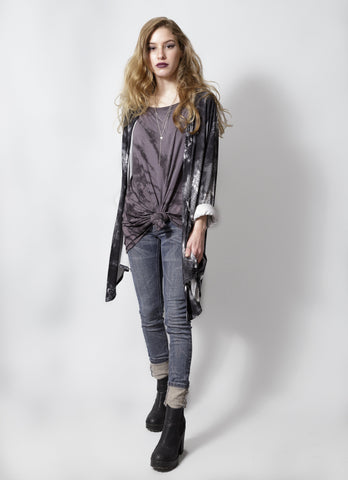 black smoke gray tie dye shirt tunic batik grunge oversize  t shirt | psychedelic t shirt dress