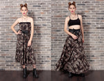 Handmade 2 in one Camouflage maxi skirt midi dress soft grunge maxi skirt camo long skirt | grunge 90s clothing maxi skirt