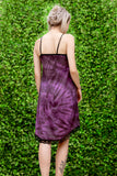 Purple tie dye pastel goth slip dress soft grunge slip dress | gothic spider web lace n skull details | creepy cute fairy dress