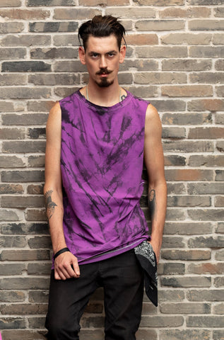 All Twisted Up purple black tie dye mens t shirt tie dye tunic  | festival clothes men 90s tie dye shirt | Unisex psychedelic clothing