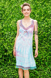 pastel unicorn dress tie dye slip dress gothic lolita fairy dress | lace & bow pastel goth slip dress soft grunge dress