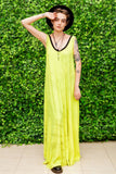 yellow maxi dress tie dye dress festival boho dress |  tye dye slouchy boho maxi dress | wedding guest dress