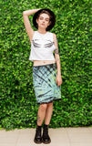 Turquoise and black tie dye slip skirt kinderwhore courtney love slip skirt grunge skirt | soft grunge pastel goth clothing