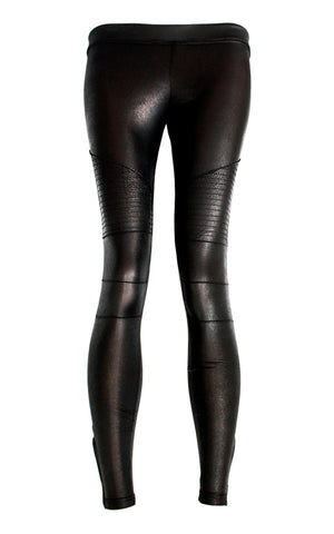 black spandex leather leggings embroidered biker pants aesthetic clothing cyberpunk leggings | handmade leggings