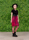 red and black tie dye slip skirt soft grunge Courtney Love slip skirt kinderwhore grunge skirt |  pastel goth skirt