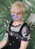 handmade graffiti mask cotton facemask | street art cool mask washable mask cloth face mask | festival mask mouth mask