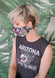 handmade paisley oriental print cotton facemask |  washable mask cloth face mask  | sustainable clothing festival mask