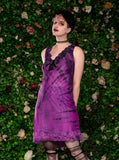 pink black tie dye hand dyed dress pastel goth slip dress soft grunge slip dress | witch fashion fairy dress alternative clothing