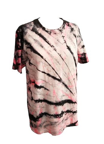 80af125d All Twisted Up Mens tie dye T shirt in Neon Pink n Black – Agoraphobix