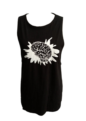 Splatter brain print streetwear boy beater top