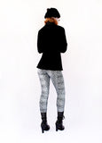shiny spandex leggings silver leopard leggings soft grunge leopard print leggings with black boyfriend blazer