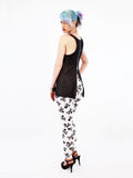 soft grunge spandex leggings skull print leggings with raglan top patterned leggings  high waist leggings