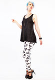 spandex leggings with raglan top patterned leggings soft grunge high waist leggings skull print leggings