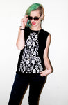 Desperetly Seeking Skellington Skull Print Streetwear Boy Beater Top