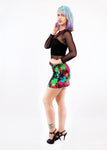 Splatter Me As Tight As It Gets Neon Splatter Print Mini Skirt