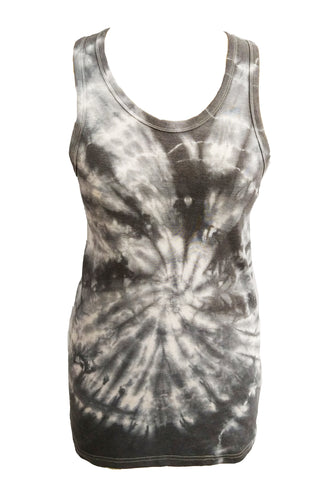 Break It Down tie dye racer back tank - In Black