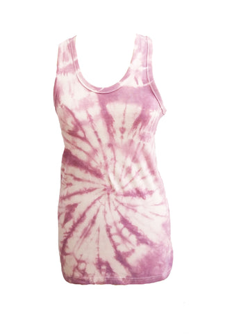 Break It Down tie dye racer back tank - In Purple