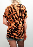 All Twisted Up Acid Wash tie dye T shirt in Tiger Blood