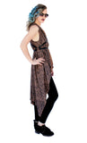 Street Warrior leather print all in one  oversize tunic