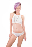 Love Me ! heart cut out Bikini top