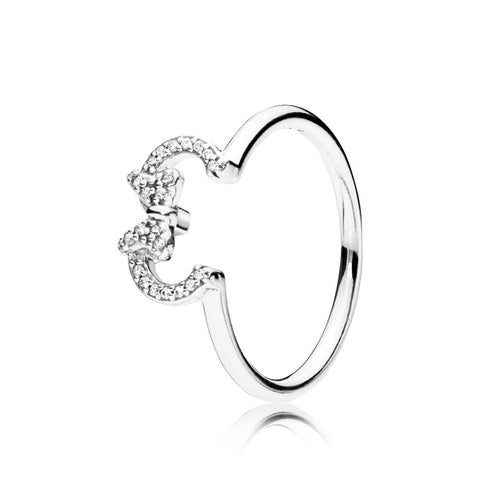Cartoon Mouse Silhouette Rings for Women Clea