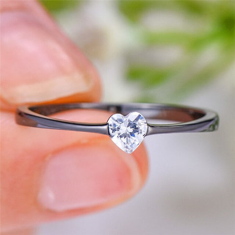 Zircon Stone Ring Boho Promise Love Engagement Rings For Women