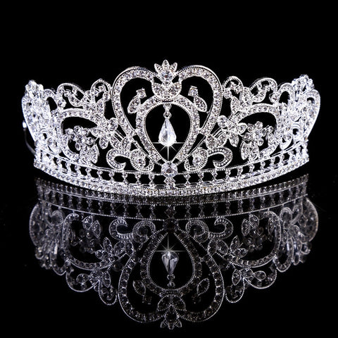 Fashion Luxury Crystal Bridal Crown Bride Wedding Hair Accessories