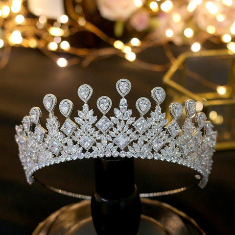 Hair Silver Tiaras Bridal Jewelry Crown Accessories