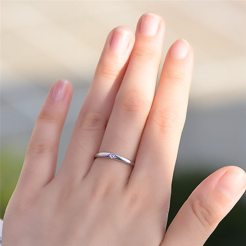 Sterling Silver Finger Ring Boho Promise Engagement Rings For Women