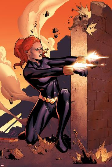 Marvel Adventures Super Heroes No.10 Cover: Black Widow Shooting