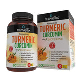 Nuwellix Turmeric Curcumin with Bioperine - Natural Anti Inflammatory Supplement Supports Pain Relief and Joint