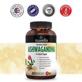 Nuwellix Ashwagandha with Black Pepper Extract 1300mg  Supports Anxiety and Stress Relief