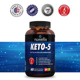 Nuwellix Keto 5 Diet Pills for Men and Women - Advanced Ketogenic Supplement with Green Tea - Helps in Fast Weight Loss
