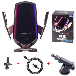 R² ™ - Automatic Clamping Wireless Car Charger Mount