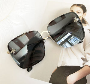 Oversized Square Sunglasses - For Women