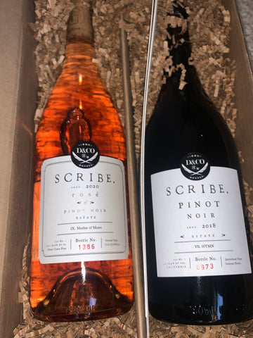 Scribe Winery Pinot Rosé and Pinot Noir