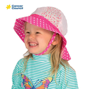 CANCER COUNCIL Toddler Floral Sou'wester (B22)
