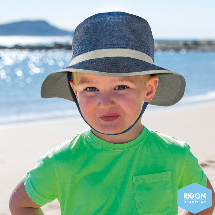 Kids denim beach hat (B239)