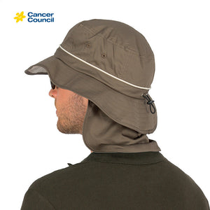 CANCER COUNCIL Mens Sun Safe Adjustable Bucket Style (RG75)