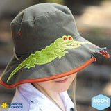 CANCER COUNCIL 'awesome' Kids Character Hat (B907)