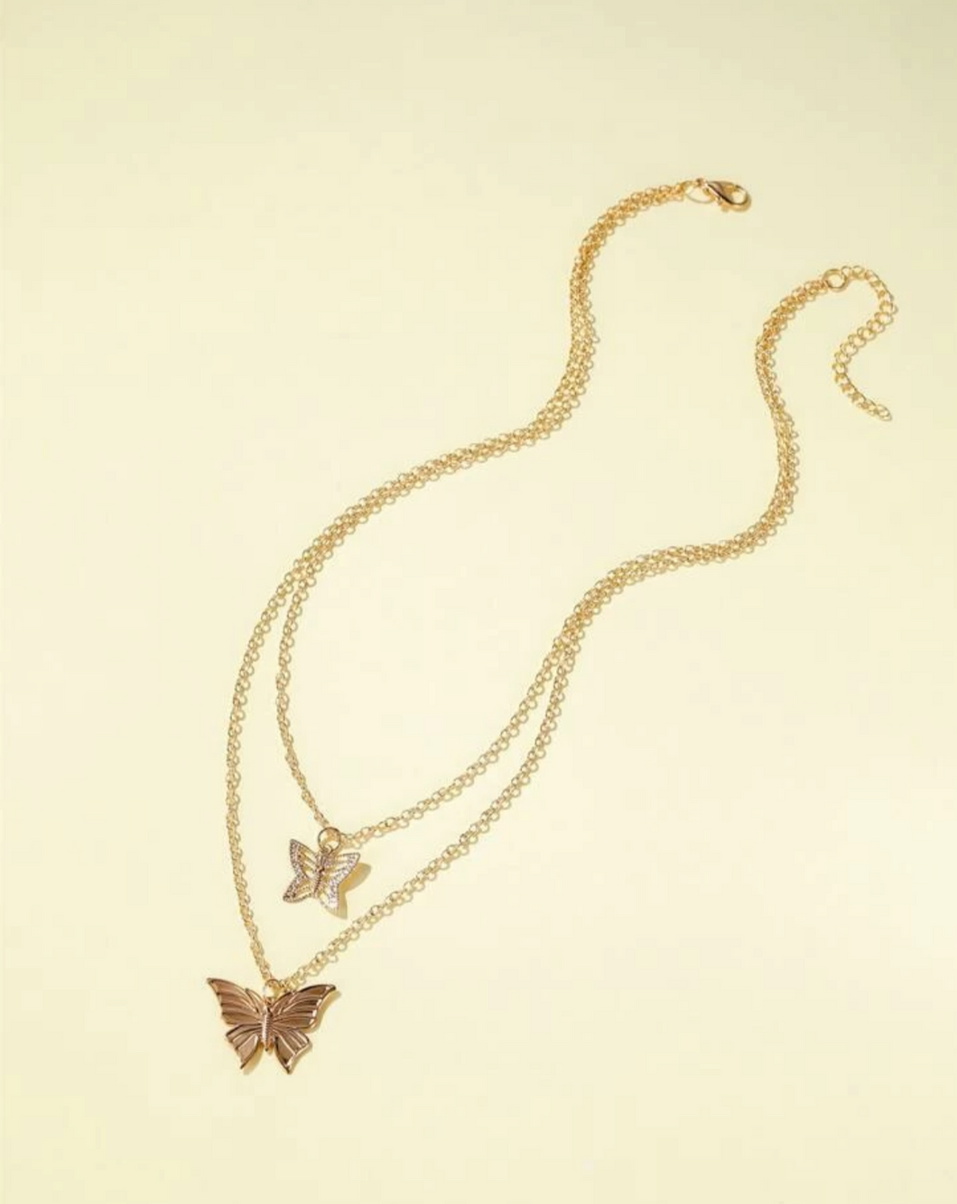 Double Layered Butterfly Necklace