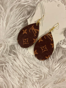 Louis Vuitton Inspired Earrings