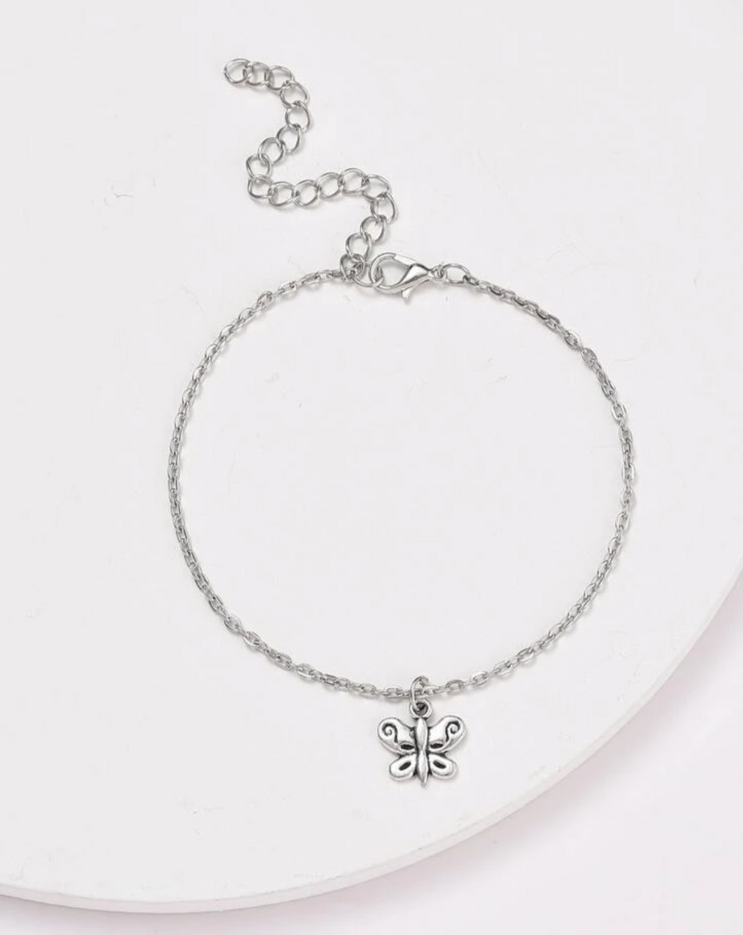 Butterfly Charm Chained Anklet