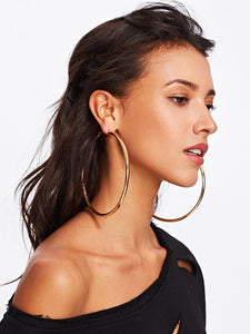 Smooth Oversized Hoop Earrings