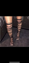 Load image into Gallery viewer, Knee High Lace Up Heels