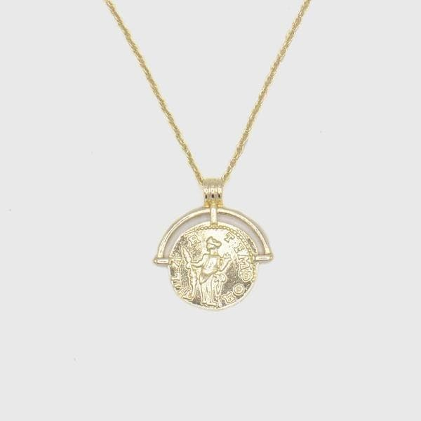 Ancient Athens Coin Necklace - HYPE HOUSE CHAINS