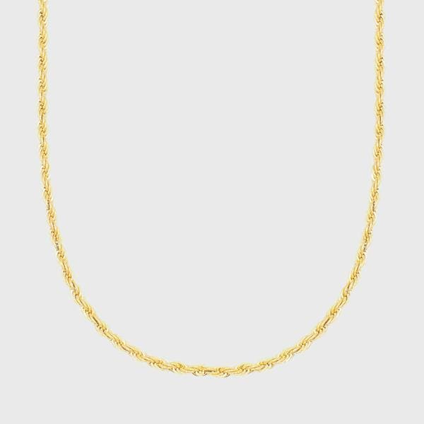 Classic Rope Chain in Gold - HYPE HOUSE CHAINS