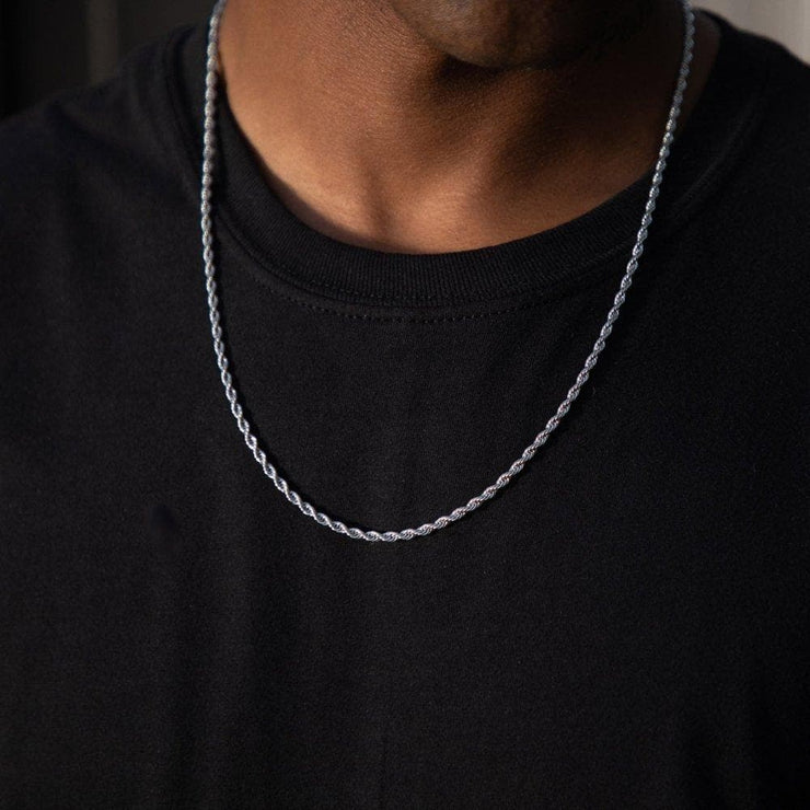 Classic Rope Chain in Silver - HYPE HOUSE CHAINS