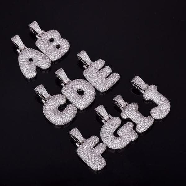 Custom Bubble Letter Pendants - HYPE HOUSE CHAINS