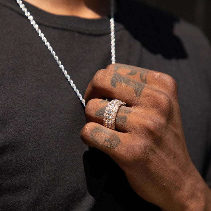 Flooded Iced Rapper Ring in Gold - HYPE HOUSE CHAINS
